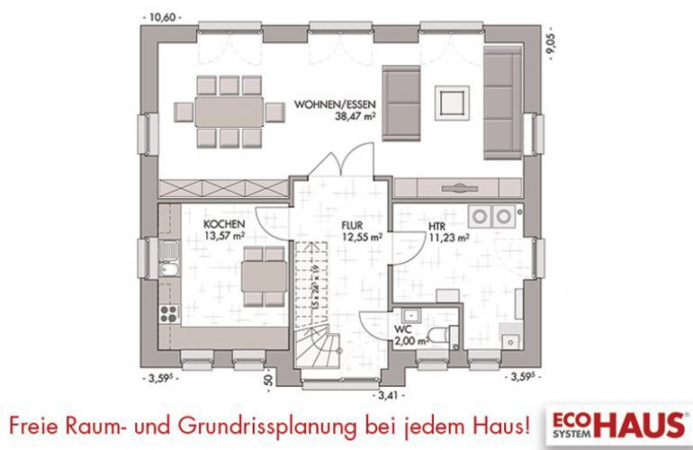 kapit nshaus 150 eco system haus gmbh. Black Bedroom Furniture Sets. Home Design Ideas